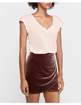 Satin Scalloped Top by Express