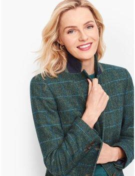 Shetland Wool Blazer   Oversize Check by Talbots