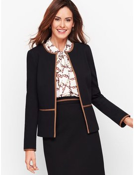 Italian Luxe Knit Tipped Jacket by Talbots