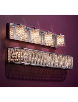 "Possini Euro Coco 28 1/2\"" Wide Chrome 4 Light Bath Light by Lamps Plus"