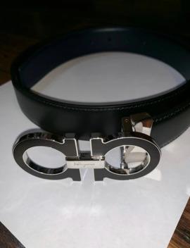 Black Ferragamo Belt by Salvatore Ferragamo  ×