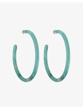 Machete Jade Green Large Hoop Earrings by Express
