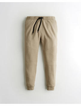 Moto Skinny Fleece Jogger Pants by Hollister