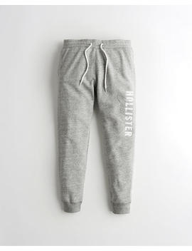 Logo Fleece Jogger Pants by Hollister