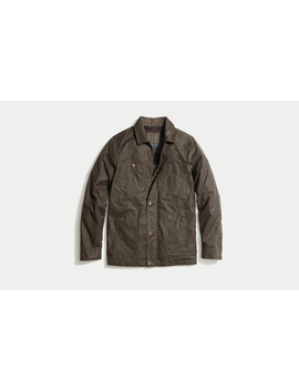 Waxed Field Coat In Brown by Marine Layer