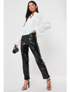 White Sheer Tiered Long Sleeve Poets Blouse by Missguided