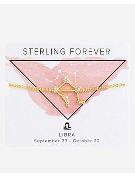 Sterling Forever Gold Libra Constellation Bolo Bracelet by Express