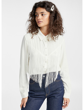 Fringed White Western Shirt by Levi's