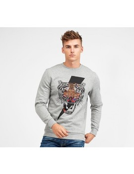 Tiger Bolt Sweatshirt | Grey Marl by Alessandro Zavetti