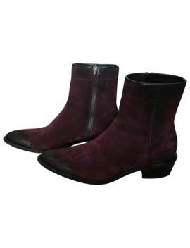 *Steal* Burgundy Suede Boots by Haider Ackermann  ×