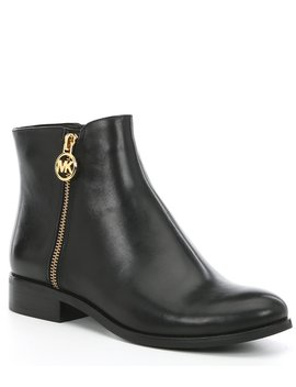 Lainey Leather Block Heel Booties by Michael Michael Kors