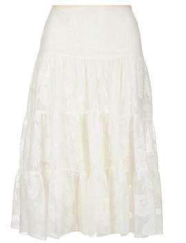 See By Chloé Floral Mesh Tiered Midi Skirt by See By Chloésee By Chloé