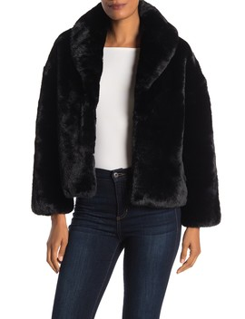 Cropped Faux Fur Jacket by Love Token