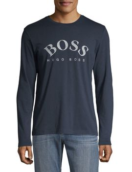 Graphic Logo Cotton Sweatshirt by Boss