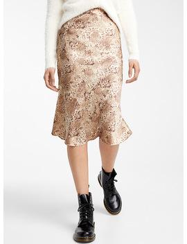 Sand Snake Print Silky Skirt by Icône