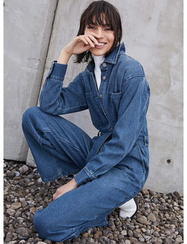 Denim Worker Jumpsuit by Icône