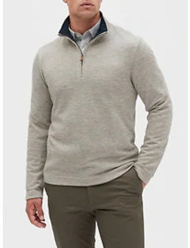 Brushed Half Zip Pullover by Banana Republic Factory