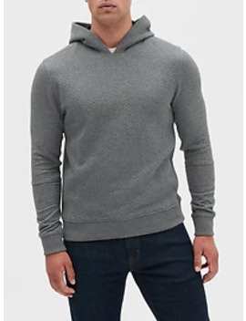 Quilted Pullover Hoodie Sweatshirt by Banana Republic Factory