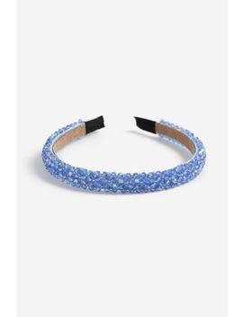 **Blue Bead Headband by Topshop