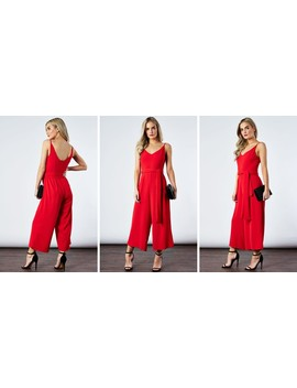 Poppy Deep Scoop Back Jumpsuit by If By Sea