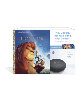 Google Home Mini (Charcoal) + 3 Disney Little Golden Book by Google