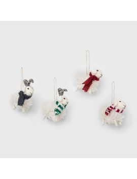 4ct Sheep Christmas Ornament Set Red Navy Green And White   Wondershop™ by Shop This Collection
