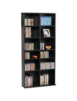 "Atlantic 54""X25"" Oskar 464 Adjustable Shelf Wood Media Storage Wall Bookcase (464 C Ds, 228 Dv Ds, 276 Blu Rays), Espresso by Atlantic"