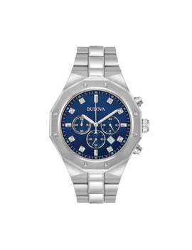Bulova Men's Diamond Stainless Steel Chronograph Watch   96 D138 by Bulova