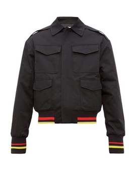 stripe-trimmed-cotton-bomber-jacket by jw-anderson
