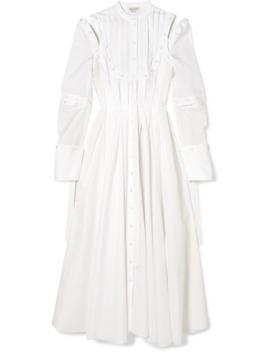 Robe En Popeline De Coton Plissée à Découpes by Alexander Mc Queen