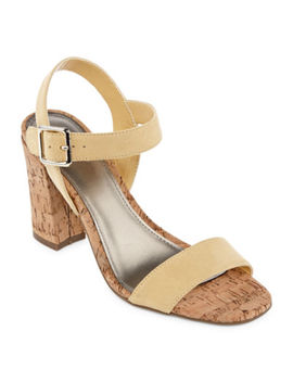 Worthington Womens Baldwin Heeled Sandals by Worthington