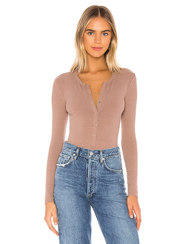 Peoria Bodysuit In Taupe by Privacy Please
