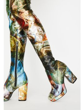 Da Vinci's Demons Thigh High Boots by Current Mood