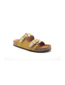 Qupid Luka 01 Womens Footbed Sandals by Qupid