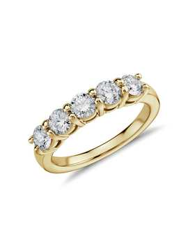Eternal Five Stone Diamond Ring In 14k Yellow Gold (1 Ct. Tw.) by Blue Nile