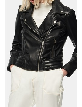 Grange Leather Moto Jacket by Andrew Marc