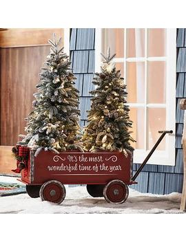Member's Mark Vintage Wagon And Trees (Flocked) by Member's Mark