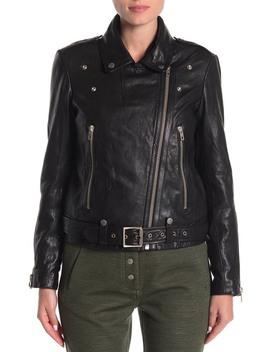 Mackenzie Faux Fur Leather Jacket by Rag & Bone