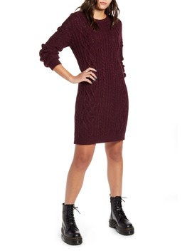 Long Sleeve Cable Knit Sweater Dress by Bp.
