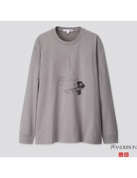 Men Long Sleeve Graphic T Shirt (Jw Anderson) by Uniqlo