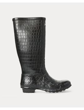 Julie Crocodile Rain Boot by Ralph Lauren