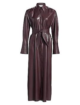 Rosana Vegan Leather Dress by Nanushka