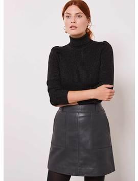 Black Puffed Sleeve Jumper by Mint Velvet