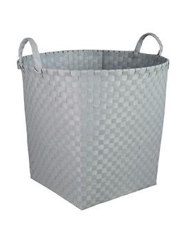 Woven Floor Bin Round Gray   Pillowfort™ by Pillowfort