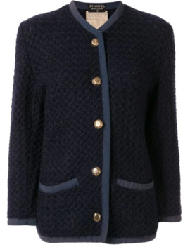 Waffle Knit Cardigan by Chanel Pre Owned