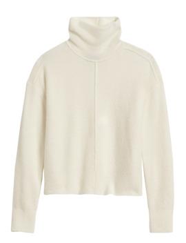 Merino Blend Funnel Neck Sweater by Banana Repbulic