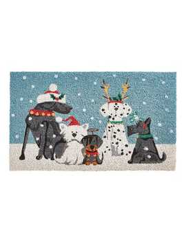 "Holiday Pups 2'6""X1'6"" Doormat by Pier1 Imports"