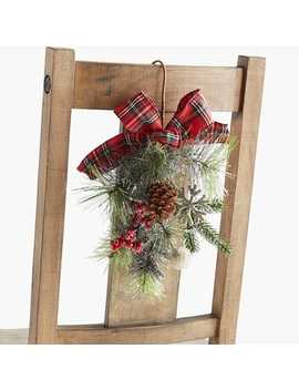 Plaid Greenery Chair Decoration by Pier1 Imports