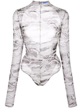 Marble Cut Out Body Suit by Mugler