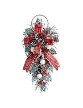 Frosted Tartan Door Hanger by Pier1 Imports